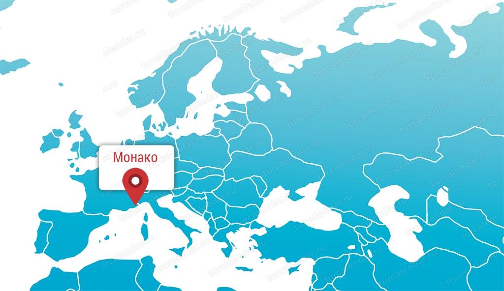 Gde Nahoditsya Knyazhestvo Monako Na Karte Mira I Na Karte Evropy