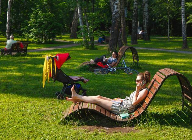 В Сокольниках можно просто отдыхать, заниматься йогой или другим интересным досугом, возможностей масса!